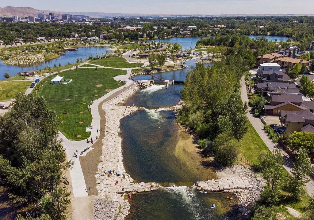 City officials opened the second phase of Boise Whitewater Park with a ribbon-cutting Thursday, July 25, 2019 along the Boise River at Esther Simplot Park.